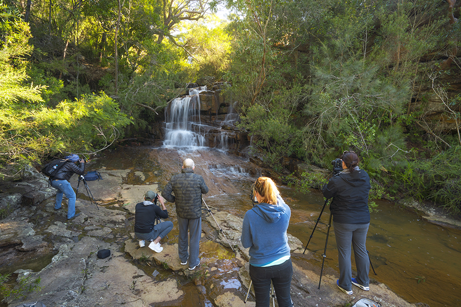 Photographing Kelly's Falls NSW