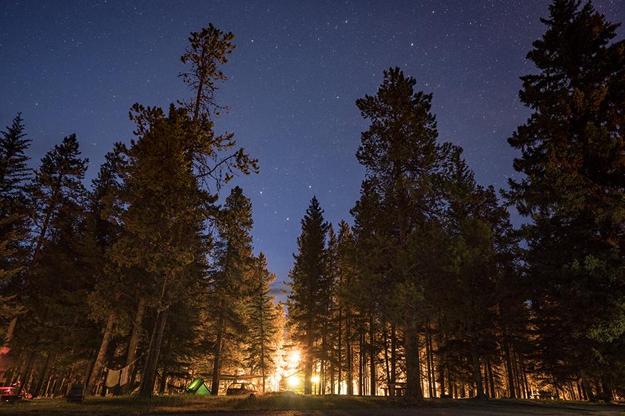 Canada camp site