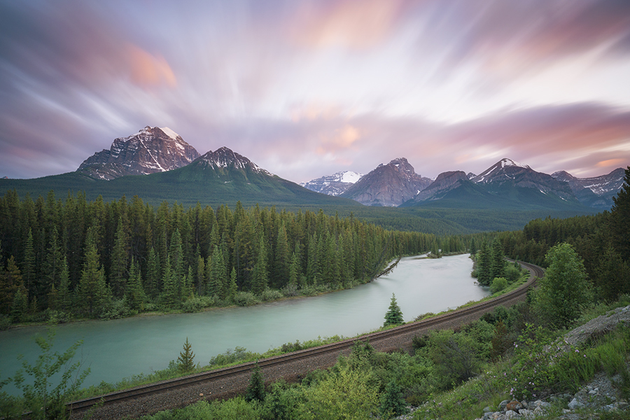 Sunset over the Canadian Rockies