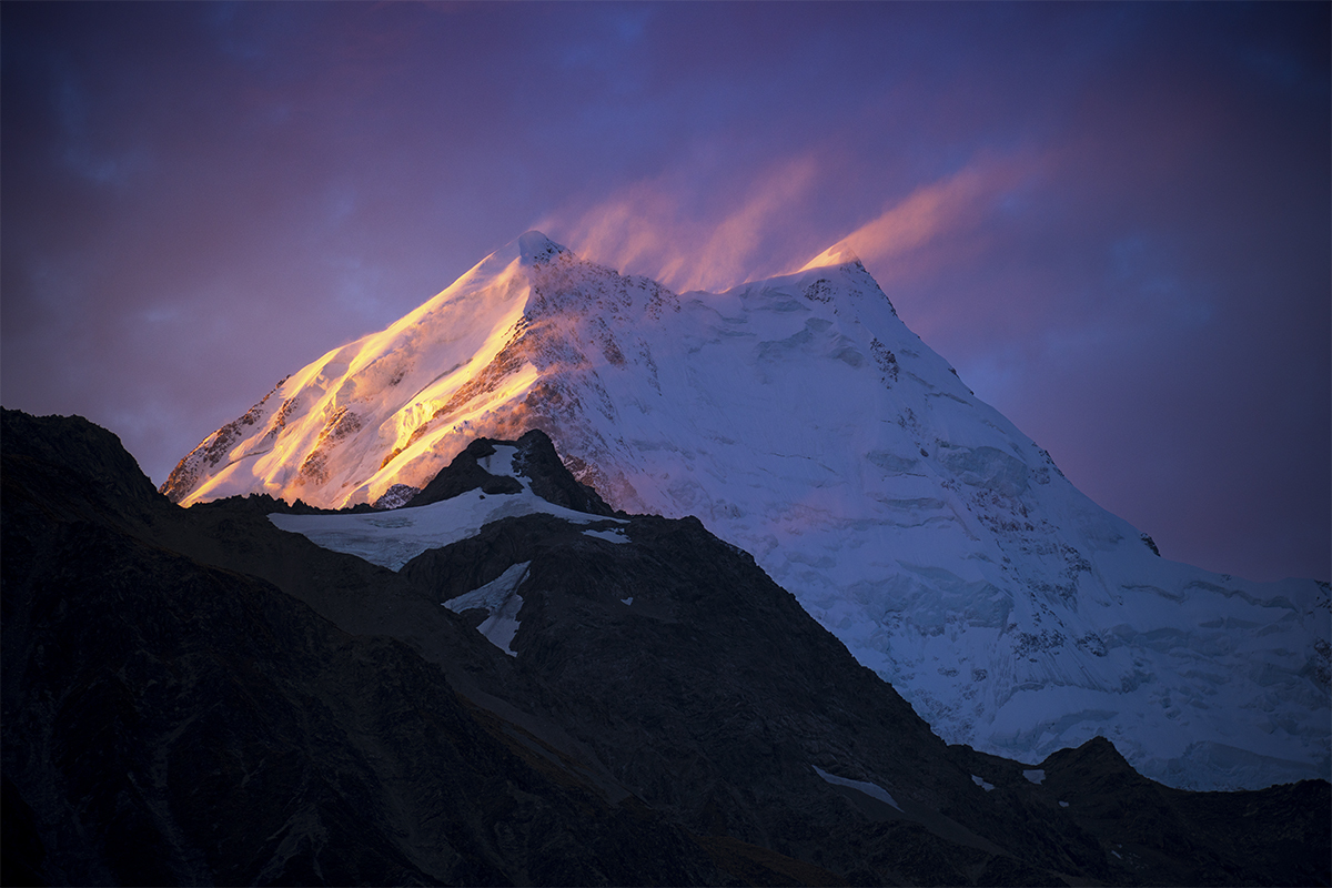 Sunset on Aoraki/Mt Cook