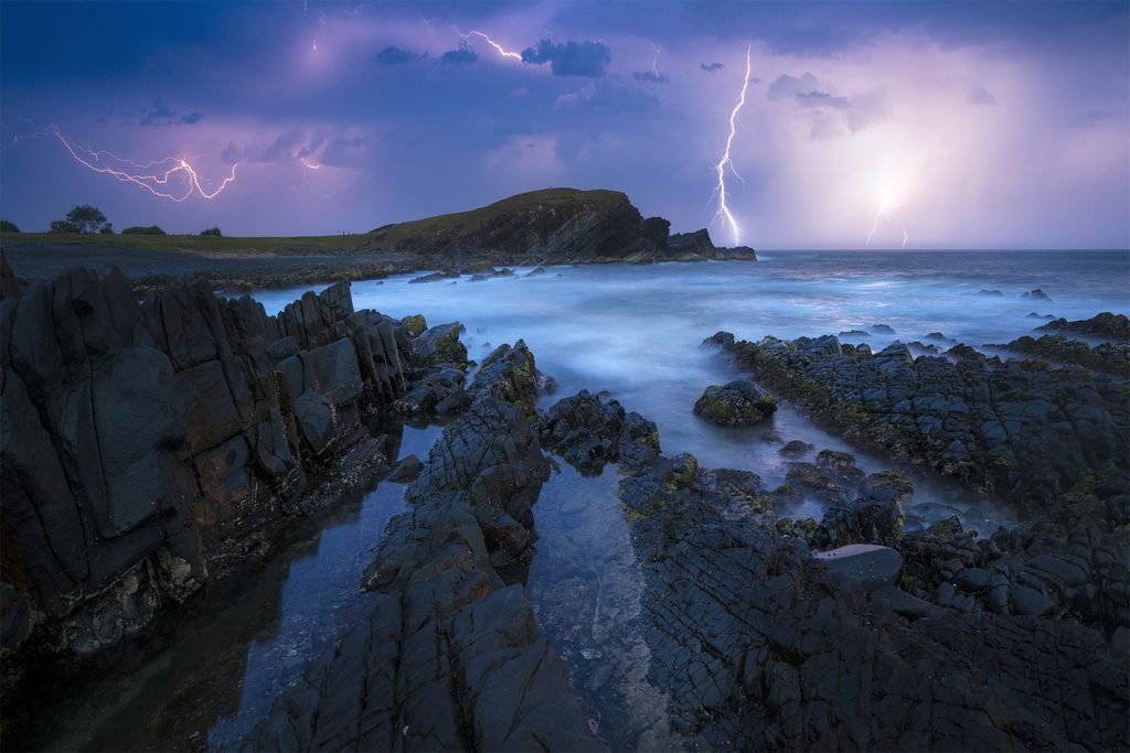 Lightning storm out at sea - Crescent Head NSW
