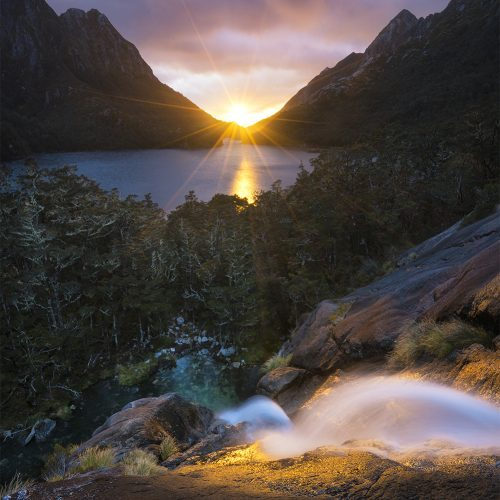 Sunrise in the New Zealand Wilderness