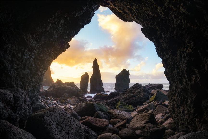Iceland sea cave