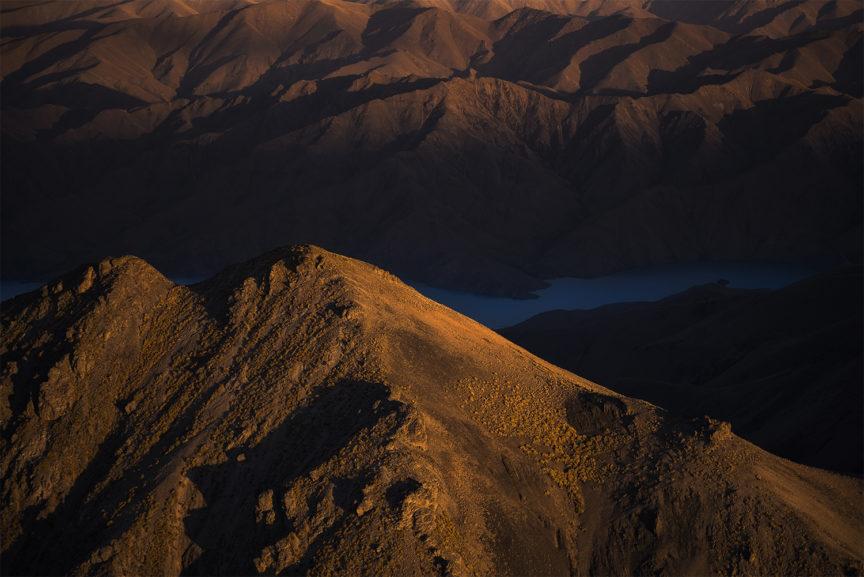 Sunset light on the mountains