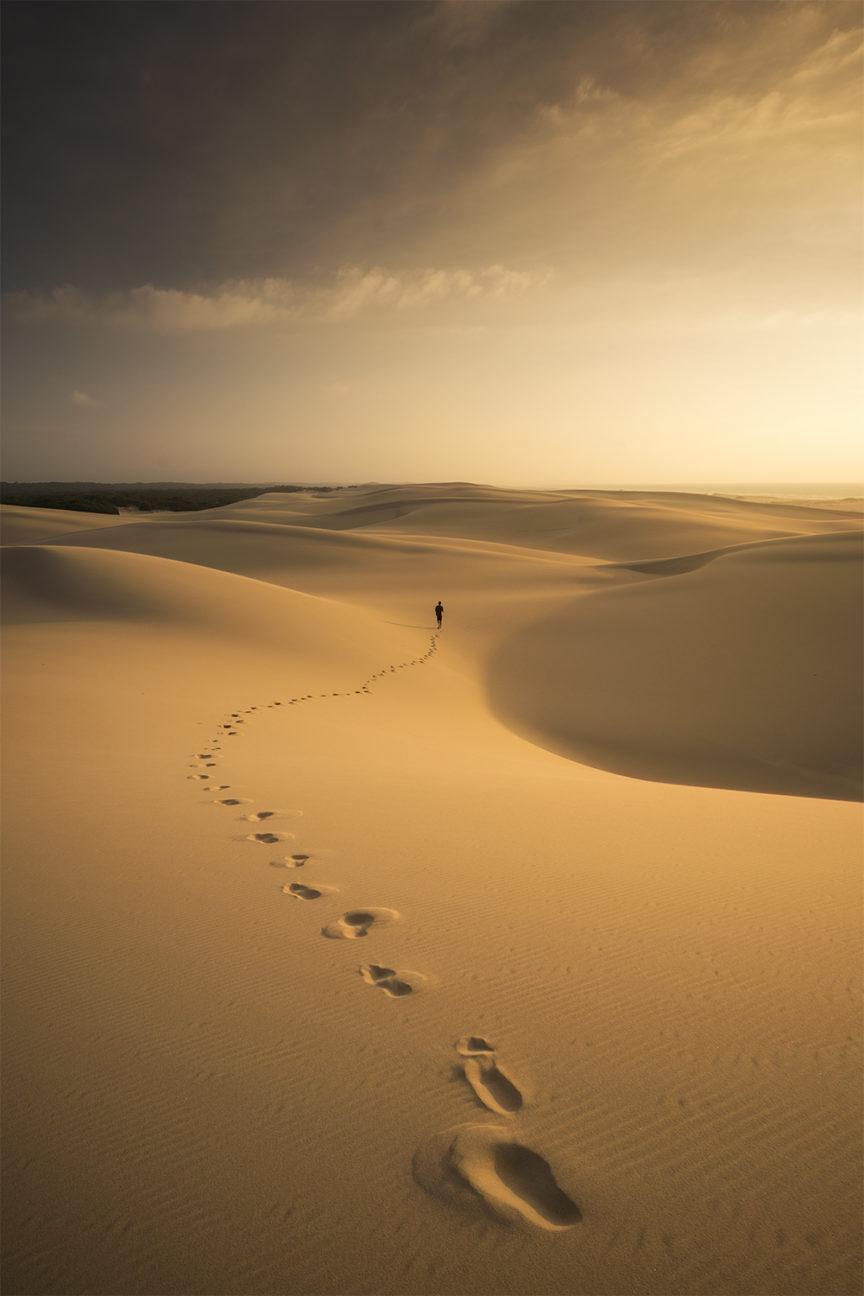 Walking Stockton sand dunes nsw