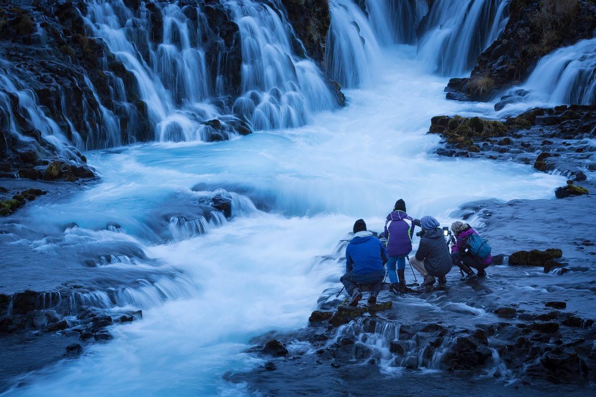 Photographing Bruarfoss, Iceland