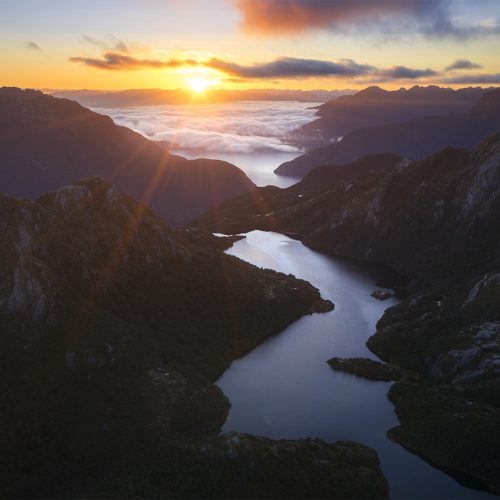 Sunrise over Fiordland NZ