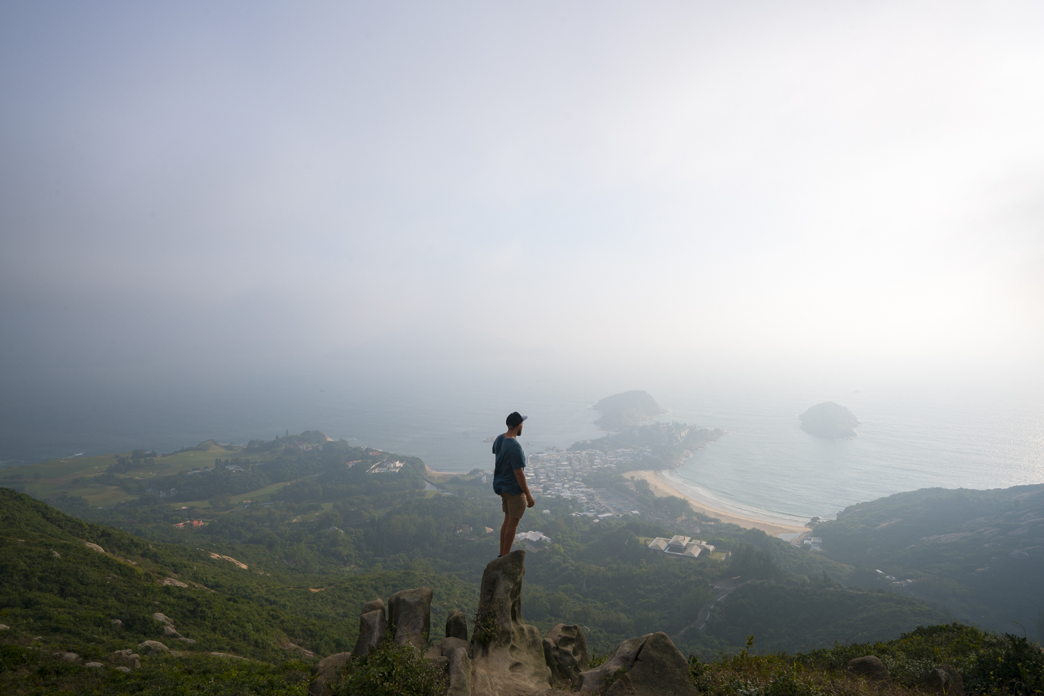 Looking down on Shek O from the Dragons Back