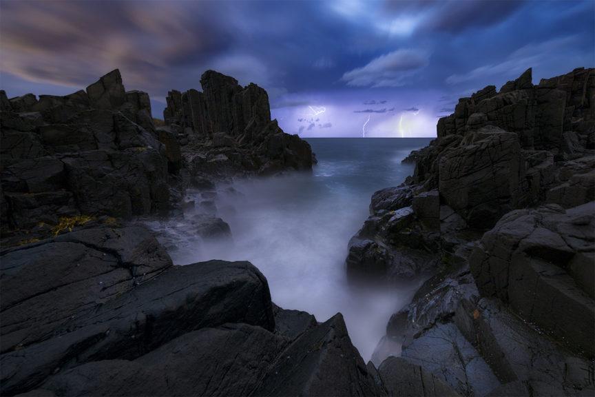 Bombo Quarry lightning storm