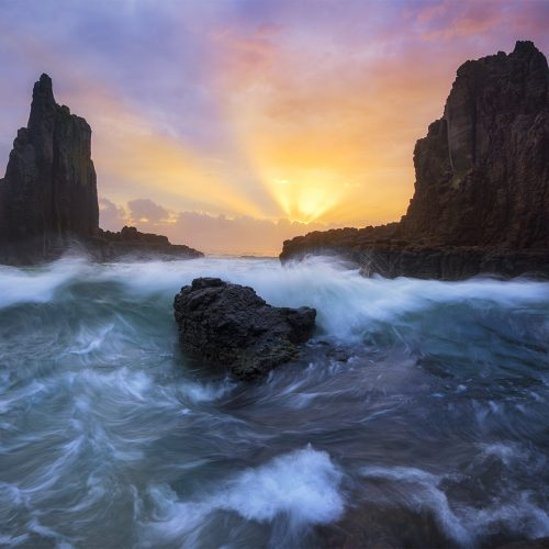 Sunrise by Cathedral Rocks Kiama