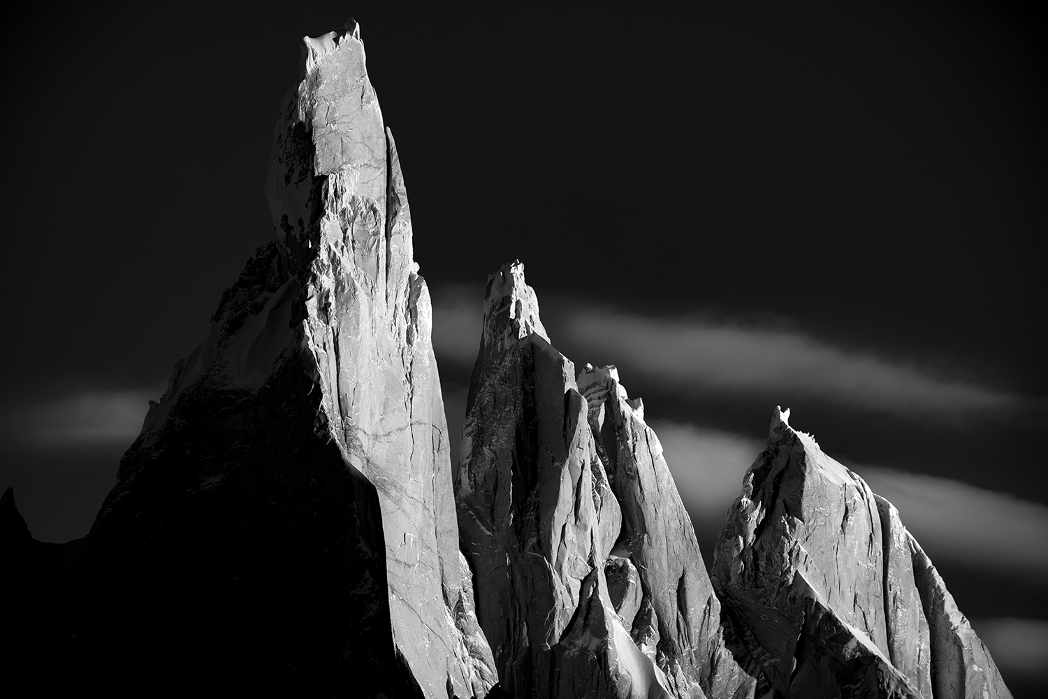 Patagonia, Black and White Cerro Torre