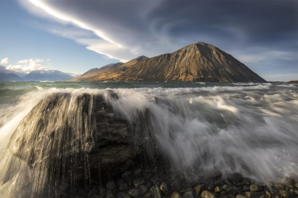 Lenticular cloud, Lake Ohau New Zealand