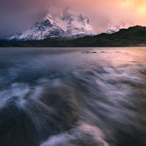 Torres Del Paine, Sunrise Lake Pehoe