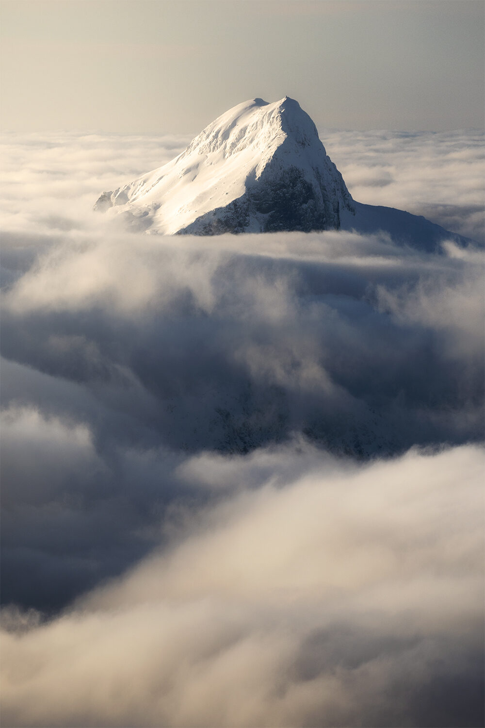 Mountain Peak above the clouds
