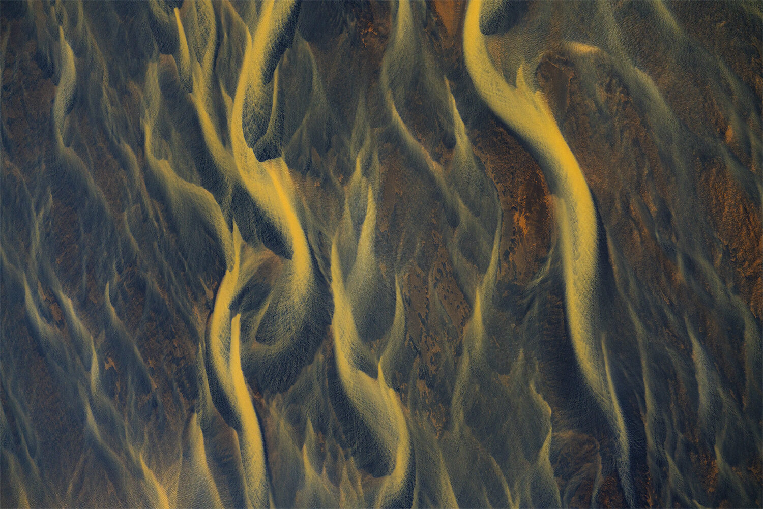 Aerial abstract of Iceland