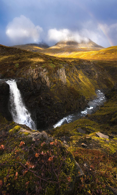 Sunset, Mt Baula Iceland