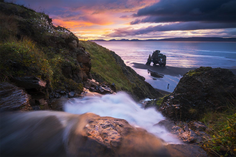 Hvitserkur sunrise, Iceland.