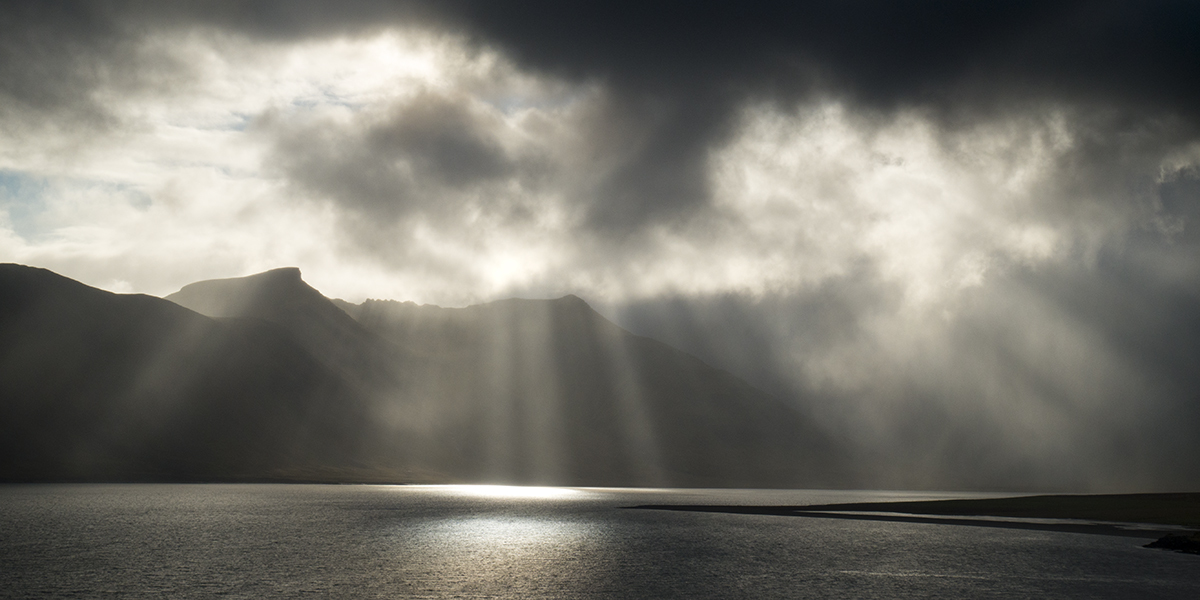 Iceland Crepuscular Rays