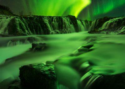 Bruarfoss-Iceland-Aurora-William-Patino