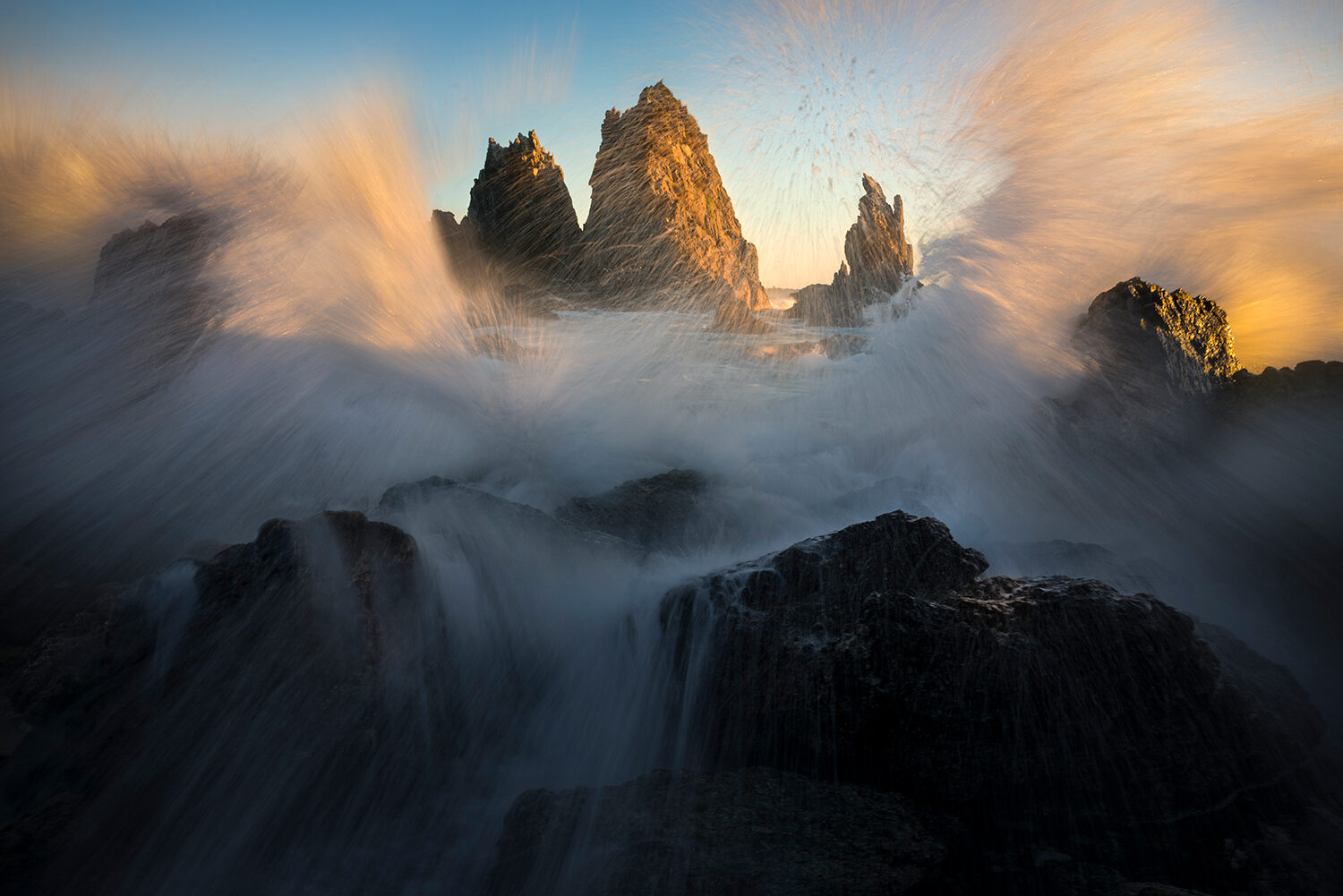 Crashing waves, Bermagui NSW, Camel Rocks