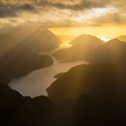 Golden SUnset, Dusky Sound NZ