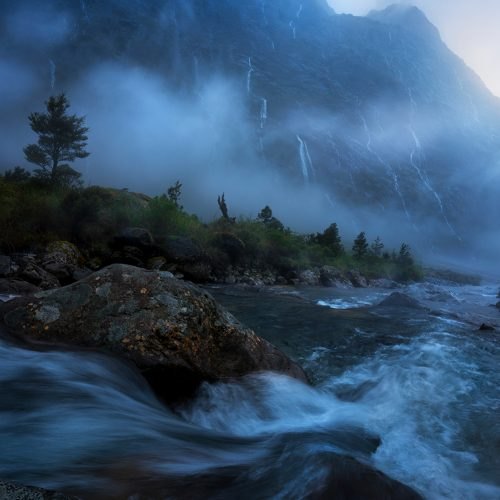 Heavy rain, Fiordland national park