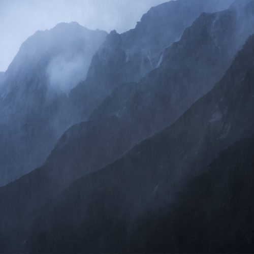Heavy mist and rain - Milford Sound New Zealand
