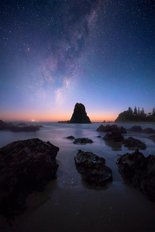 Milky Way, Narooma Glasshouse Rocks