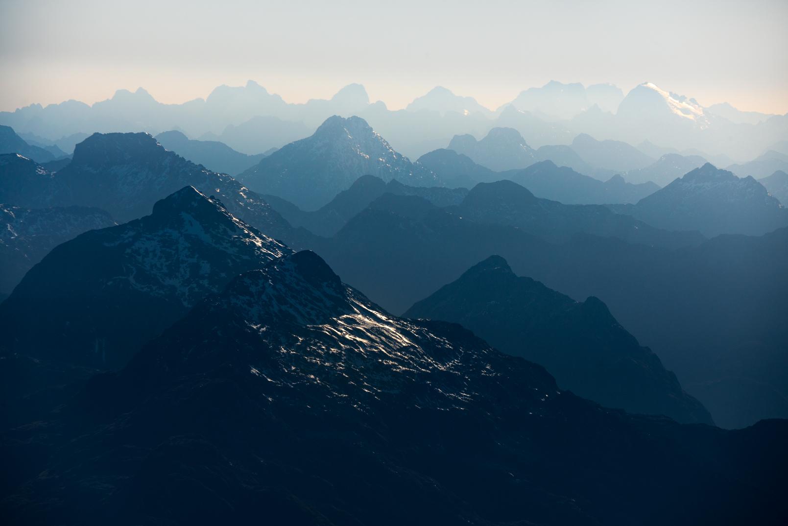 Mountain layers, Fiordland
