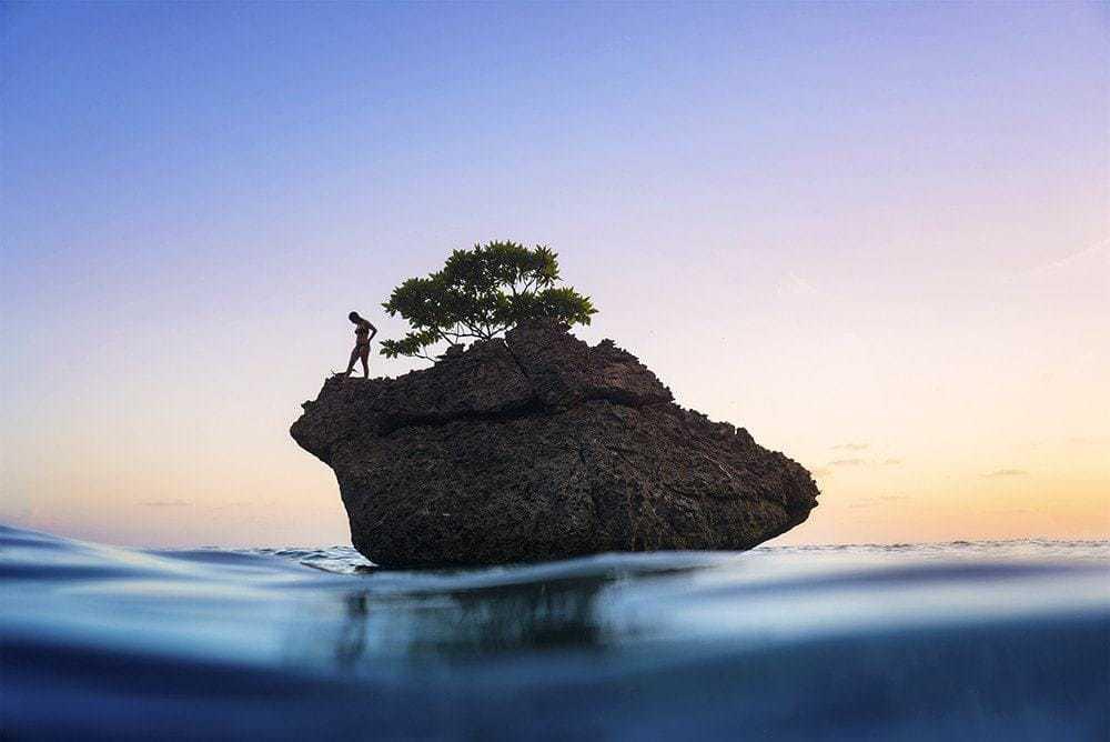 Small island sunrise