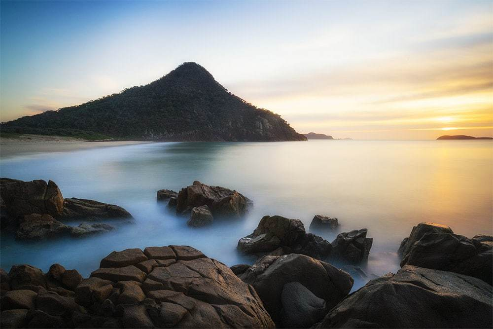 Long exposure seascape photography.