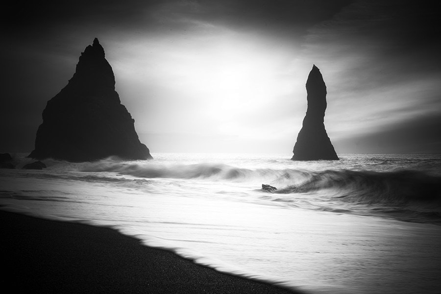 Large sea stacks in Iceland