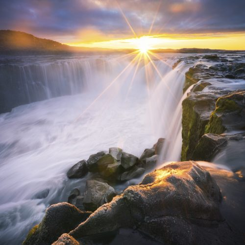 Sunrise over Selfoss, Iceland