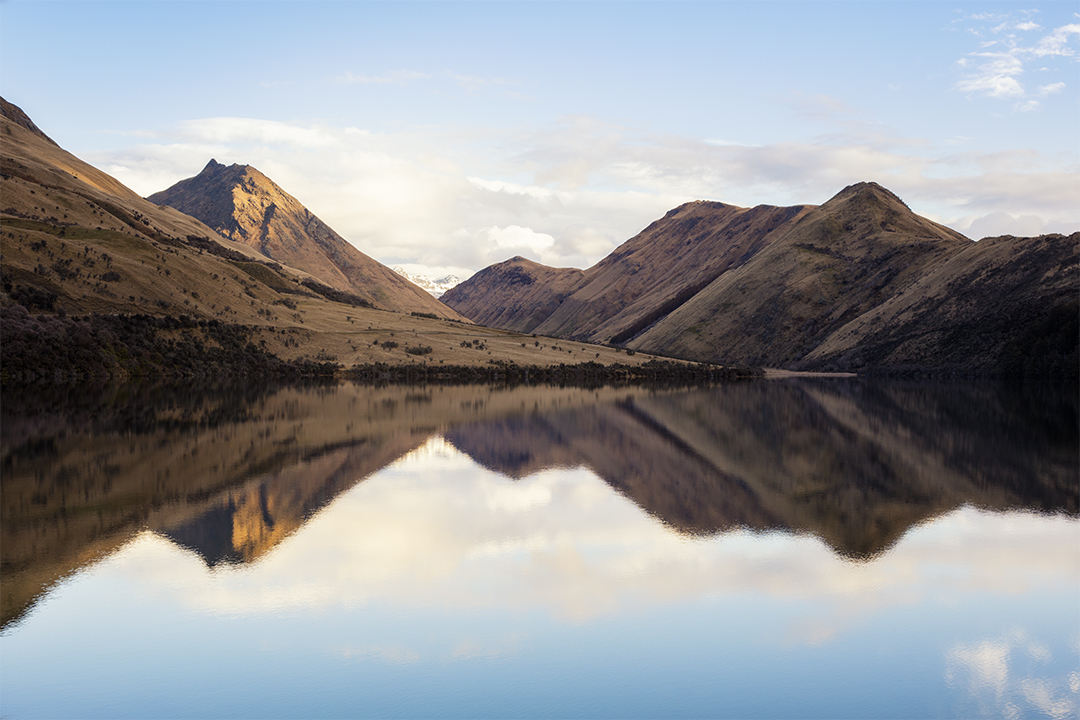 Mountain reflections at Moke Lake Queenstown