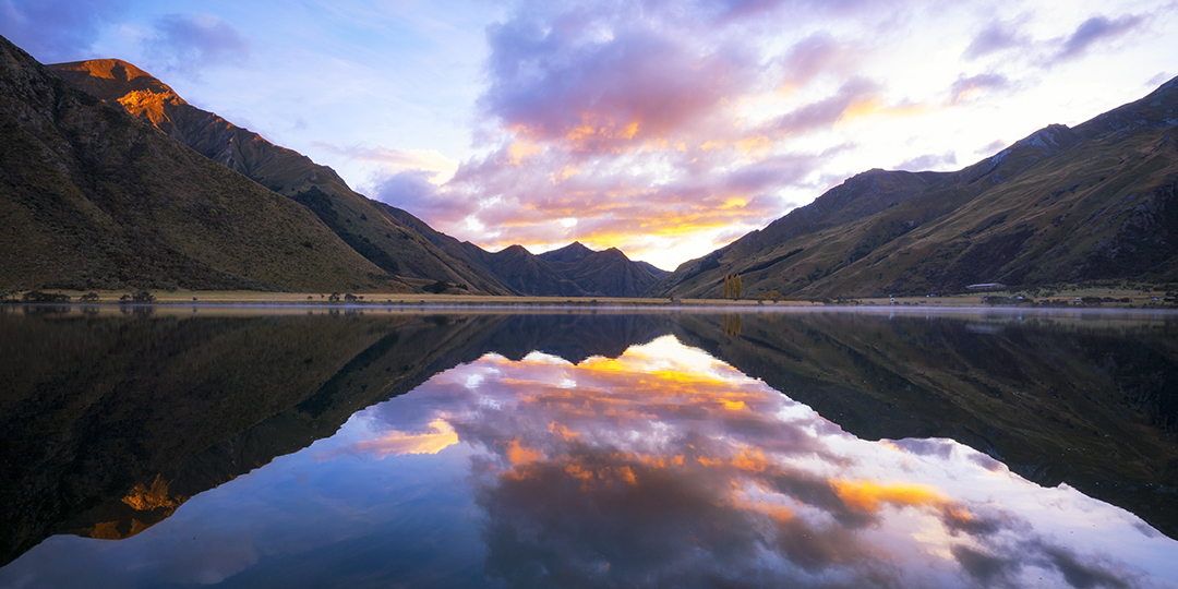 Sunrise reflections, Moke Lake