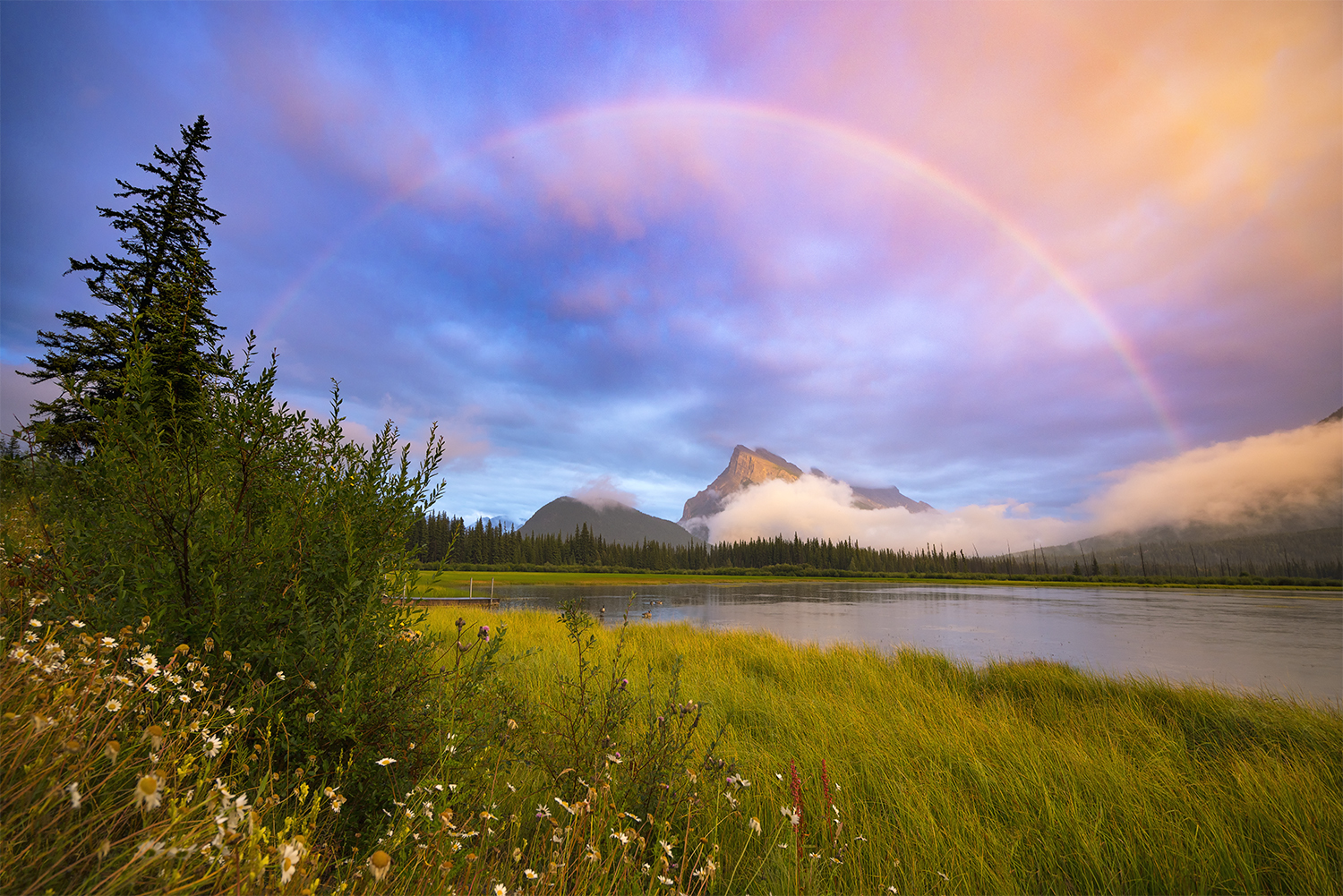 Mount Rundle Rainbow