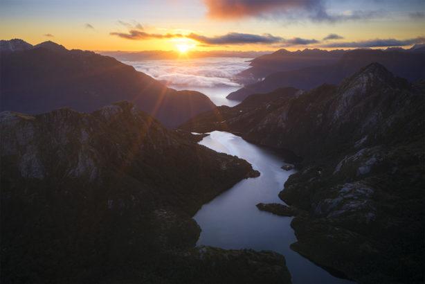 Sunrise over Fiordland NZ