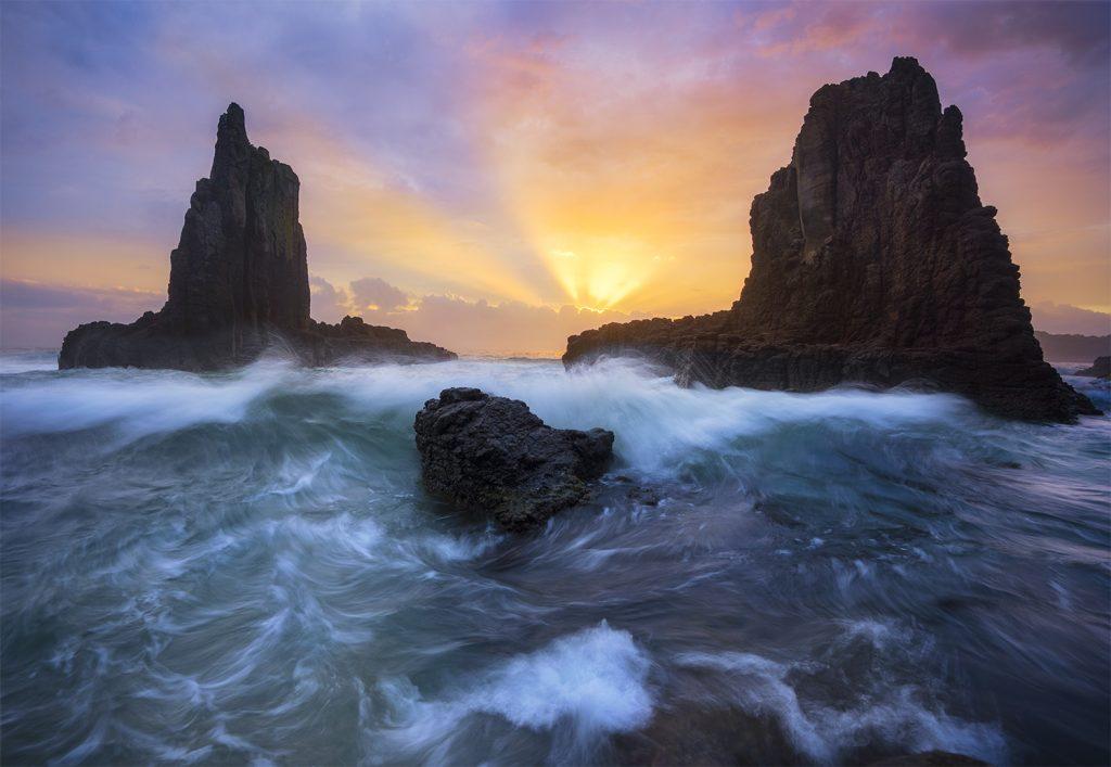Sunrise by Cathedral Rocks Kiama