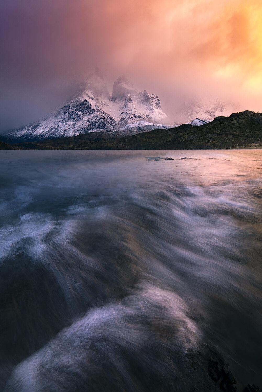 Torres Del Paine, Sunrise Lake Pehoe
