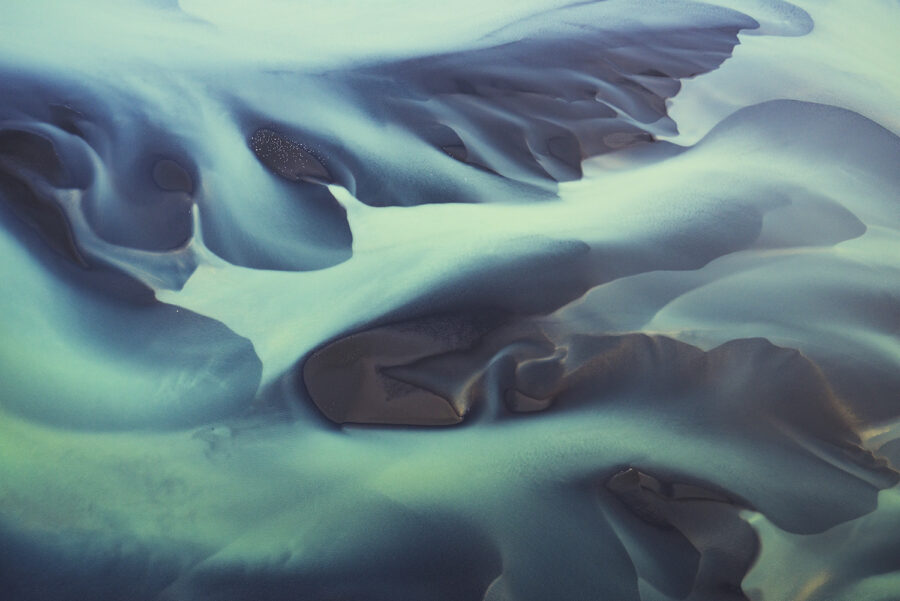 Iceland river from the air