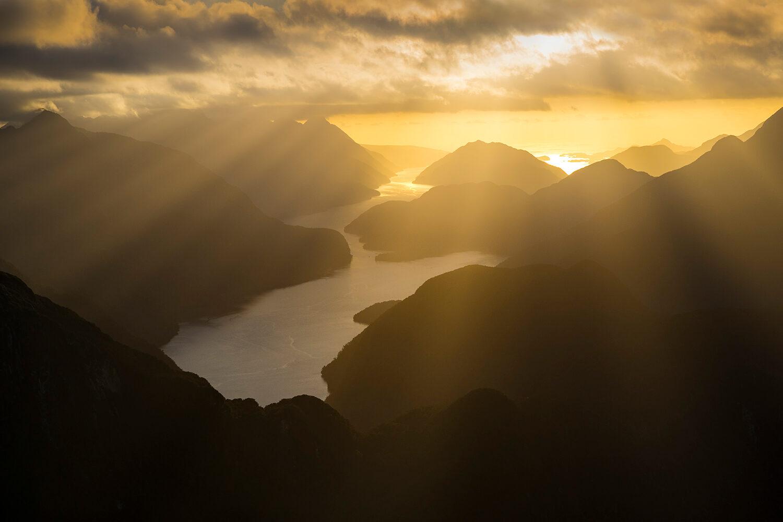 Golden SUnset, Dusky Sound NZ