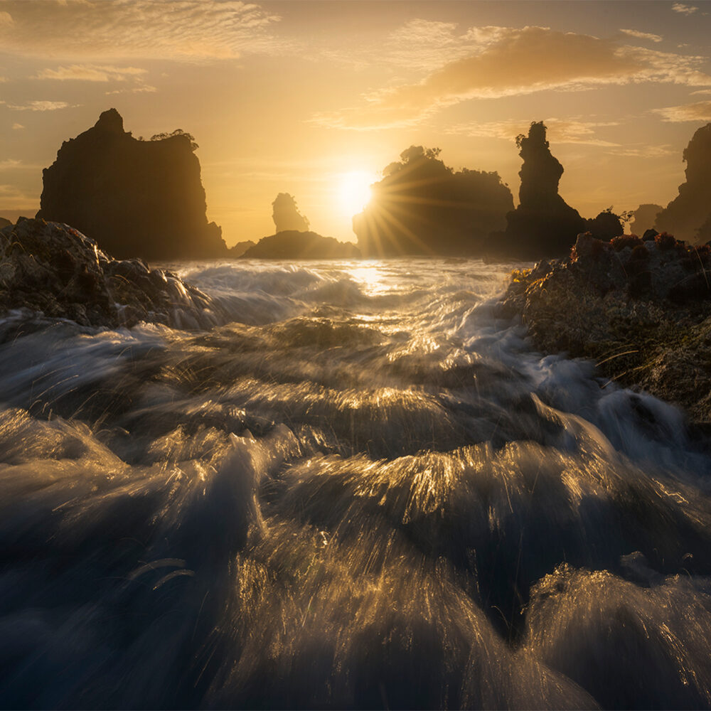 Rugged Coastline Sunset