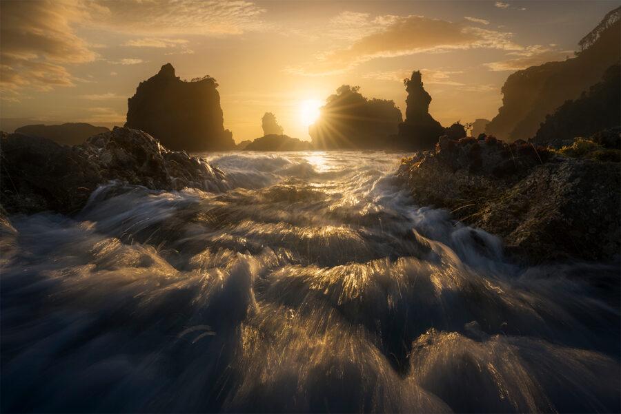 Rugged Coastline Sunset
