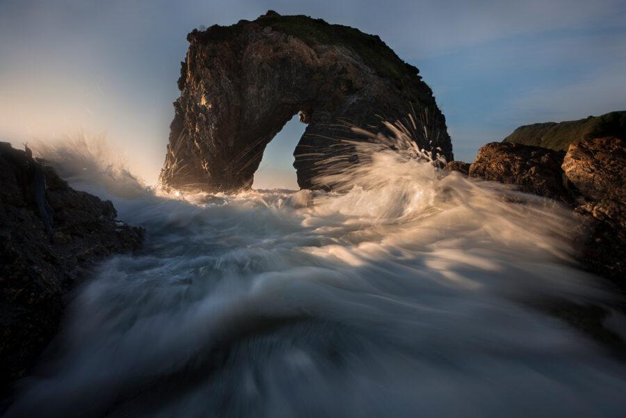 Horse Head Rock along the coast of Bermagui NSW