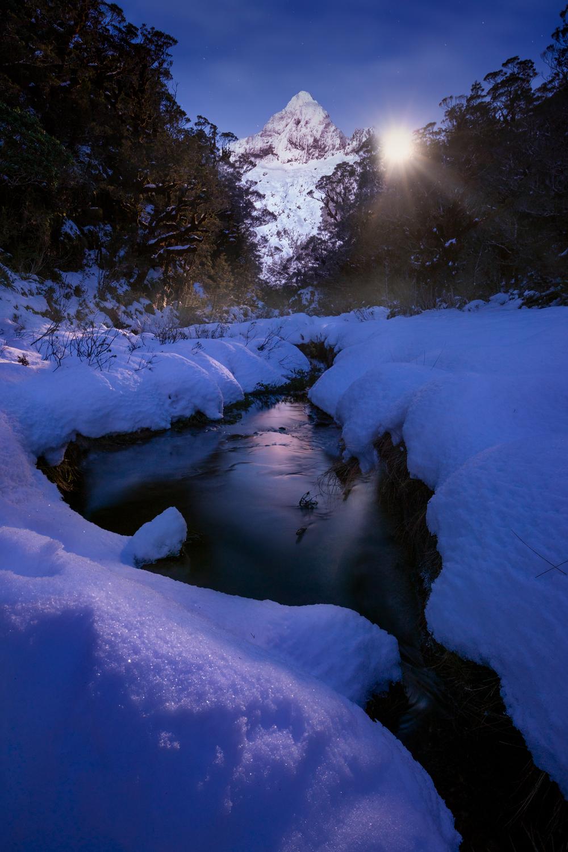 Moon rise Fiordland