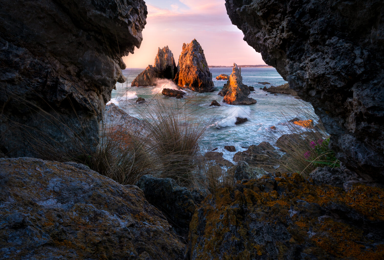 Camel Rock cave framing