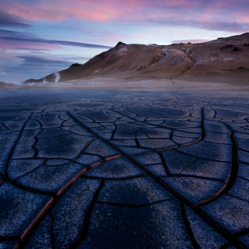 Northern Iceland mud cracks