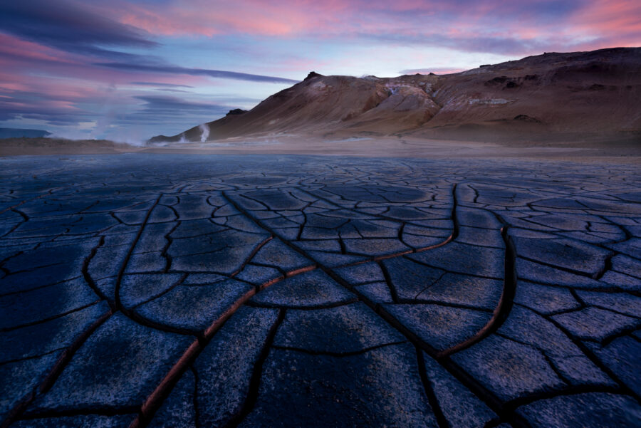 Northern Iceland mud cracks