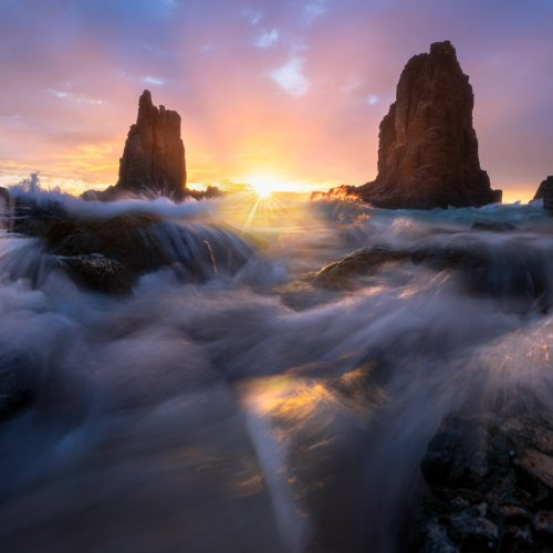 Cathedral Rocks sunrise Kiama