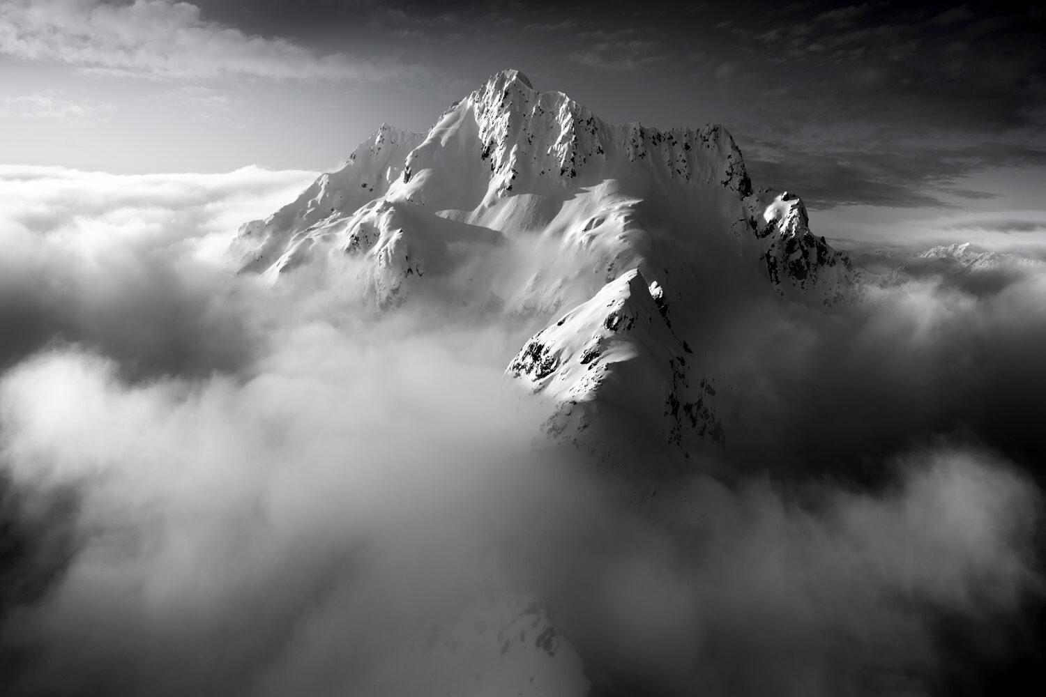 Black and white mountains, New Zealand